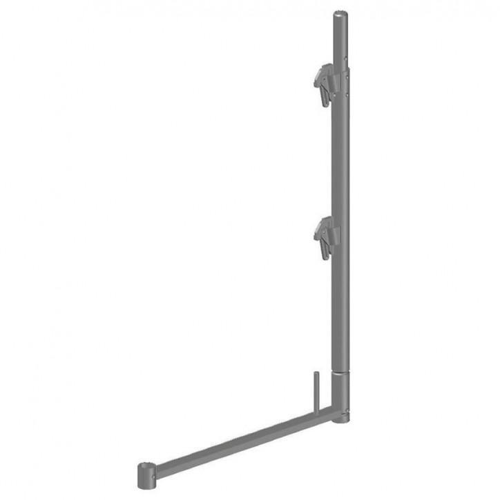 Stahl-Geländerstütze quadro light mit Rohrverbinder