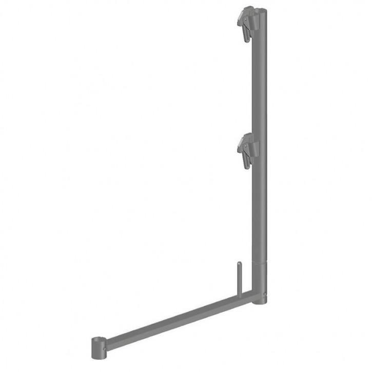 Stahl-Geländerstütze quadro light