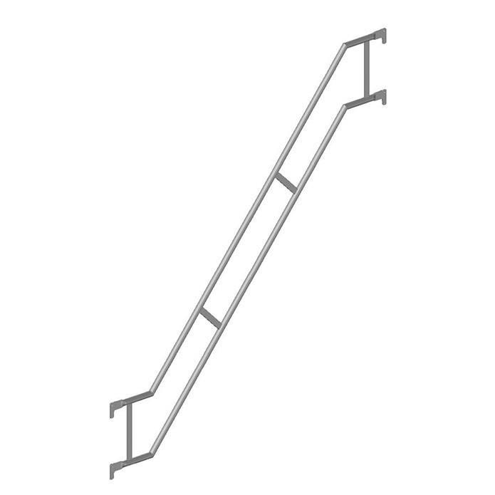 Treppengeländer quadro, außen, für Alu-Treppe