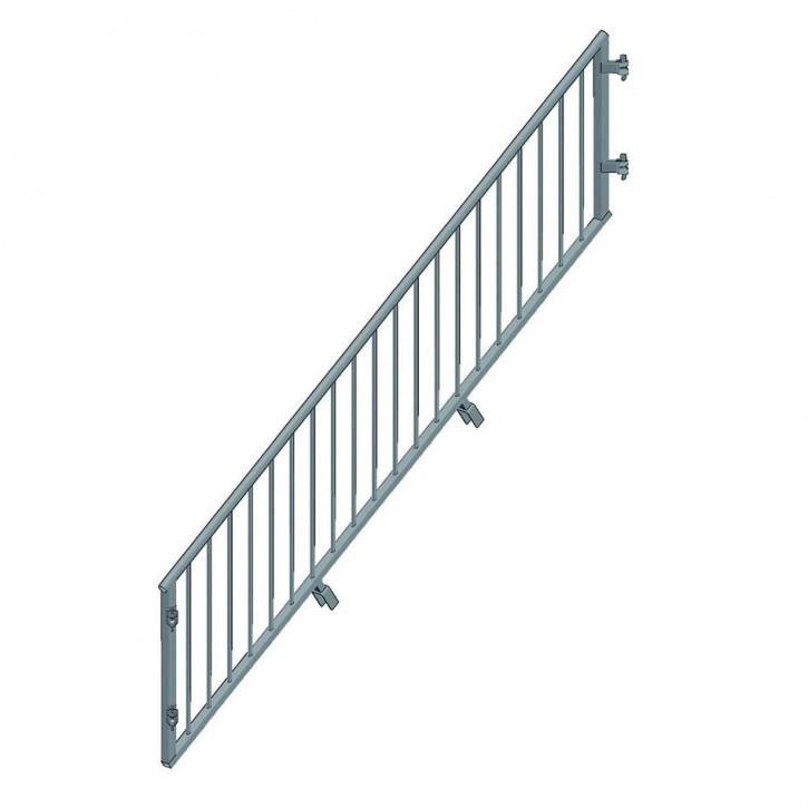 Geländer kindersicher für Treppenwange futuro H200 und 12 Stufen B27 307 L