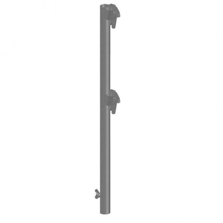 Alu-Geländerpfosten quadro 100 H ohne Bordbretthalter