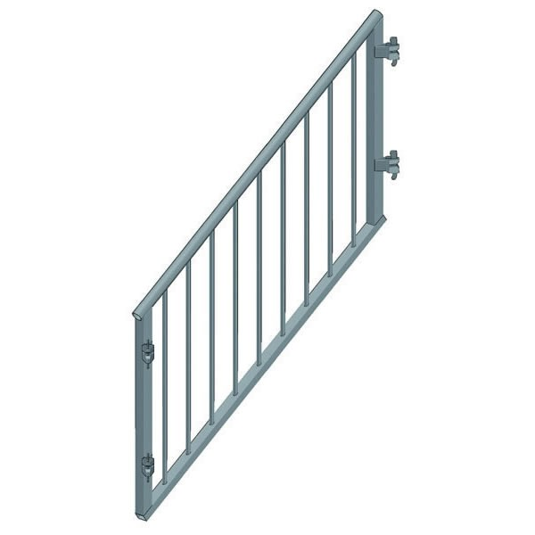 Treppengeländer kindersicher für Treppenwange Stufen B27 100 H x 150 L