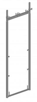 Stahl-Vertikalrahmen SL B74 light mit 4 Kippstiften