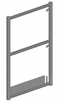 Stahl-Stirnseiten-Geländerrahmen SL mit 2 Kippstiften
