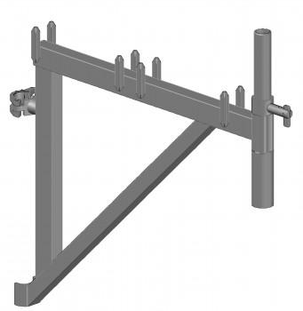 Konsole SL B64 H50 mit Rohrverbinder