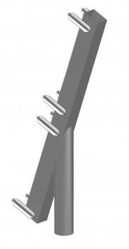 Schutzdachaufsatz SL, Auskragung 100, 2-bohlig