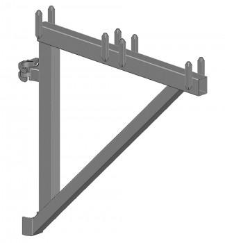 Konsole SL B64 H50 ohne Rohrverbinder