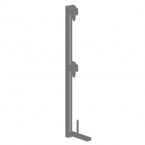 Geländerpfosten quadro 100 H aus Stahl  mit Bordbretthalter